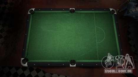 Mesa de bilhar superior na barra de 8 bolas para GTA 4 segundo screenshot