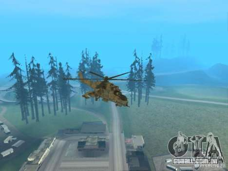 Mi-24 p para GTA San Andreas interior
