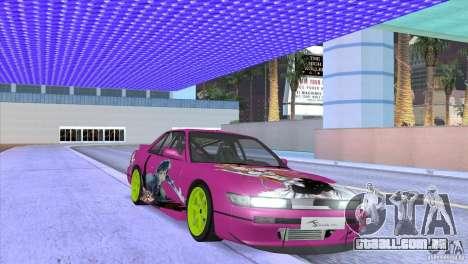 Nissan Silvia S13 Sword Art Online para GTA San Andreas vista interior