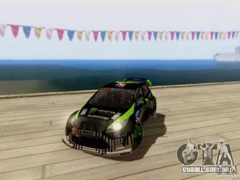 Ford Fiesta Gymkhana 3 para GTA San Andreas vista traseira