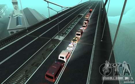 A comitiva presidencial v. 1.2 para GTA San Andreas por diante tela