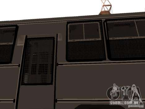 Mercedes Benz SWAT Bus para vista lateral GTA San Andreas