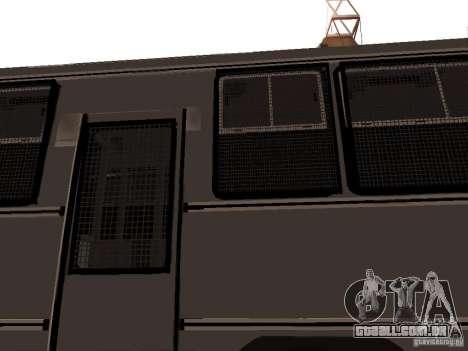 Mercedes Benz SWAT Bus para vista lateral GTA San Andreas