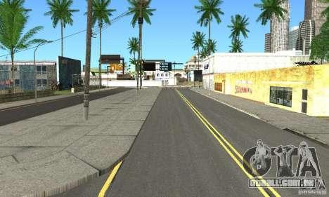 Real HQ Roads para GTA San Andreas por diante tela