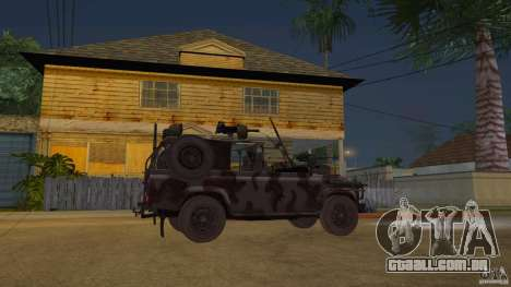 Land Rover WMIK para GTA San Andreas vista direita