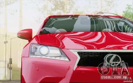 Lexus GS 350 F Sport Series IV para GTA San Andreas vista inferior