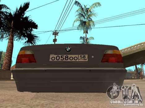 BMW 750i para GTA San Andreas vista interior