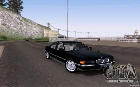 BMW 730i E38 para GTA San Andreas vista interior