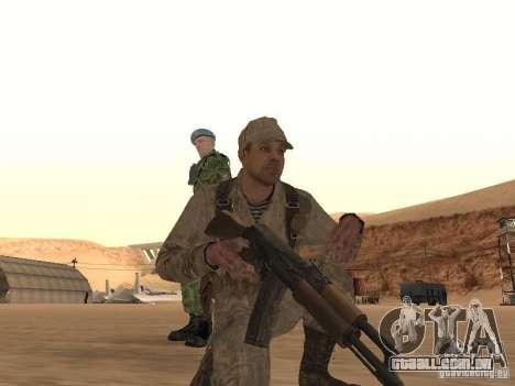 Um soldado soviético pele para GTA San Andreas terceira tela