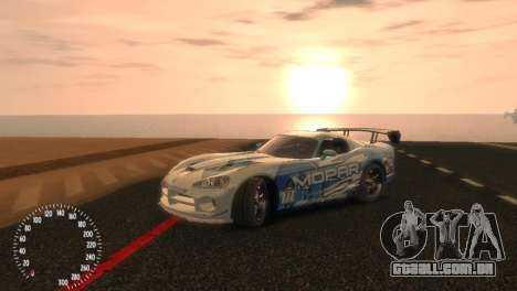 Dodge Viper SRT-10 Mopar Drift para GTA 4 vista direita