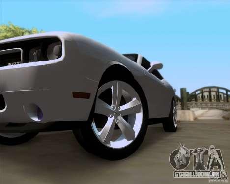 Dodge Challenger SRT8 2009 para vista lateral GTA San Andreas