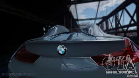 BMW Vision ConnectedDrive Concept 2011 para GTA 4 traseira esquerda vista