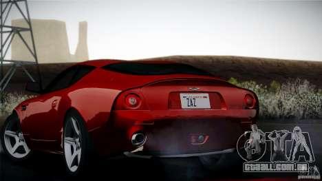 Aston Martin DB7 Zagato 2003 para GTA San Andreas vista interior
