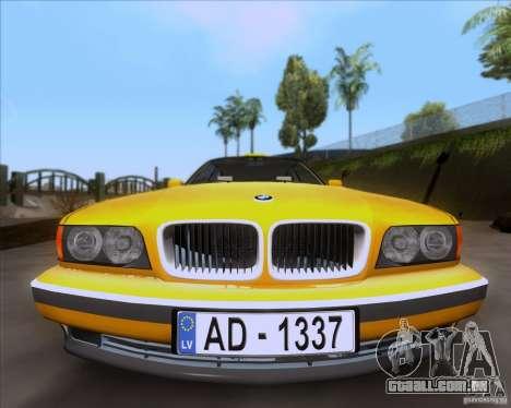 BMW 730i E38 1996 Taxi para GTA San Andreas vista direita