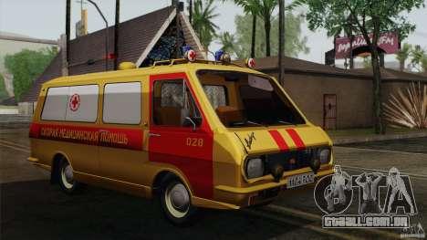 RAF 22031 Latvija ambulância para GTA San Andreas vista traseira