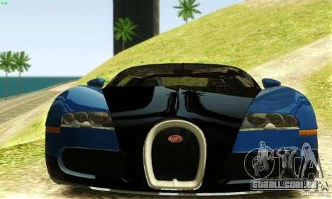 Bugatti Veyron para GTA San Andreas vista traseira