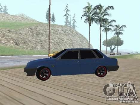 VAZ 21099 v2 para GTA San Andreas vista traseira