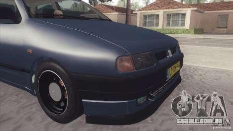 Seat Ibiza GLXI 1.4 1994 para GTA San Andreas traseira esquerda vista