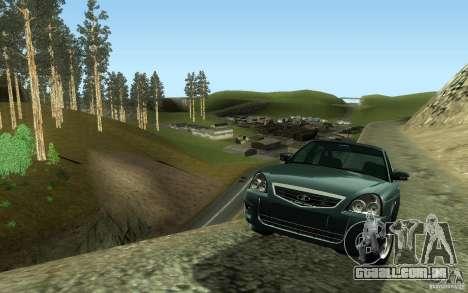 VAZ-2172 para GTA San Andreas traseira esquerda vista