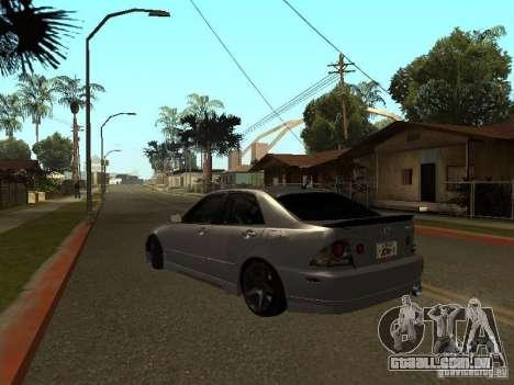 Lexus IS300 JDM para GTA San Andreas esquerda vista