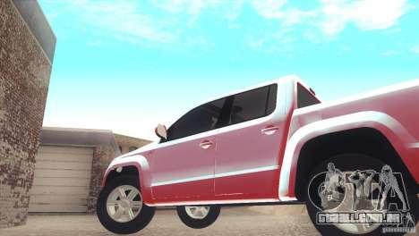 Volkswagen Amarok TDI Trendline 2013 para GTA San Andreas vista direita