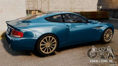 Aston Martin Vanquish 2001 para GTA 4 esquerda vista