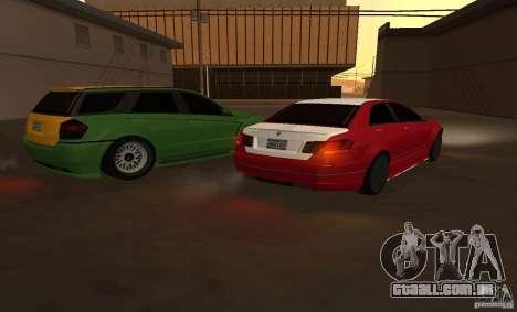 Schafter de GTA EFLC para GTA San Andreas traseira esquerda vista