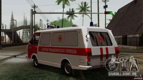 RAF 22031 Latvija ambulância para GTA San Andreas esquerda vista