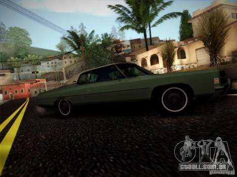 Chevrolet Impala 1972 para GTA San Andreas traseira esquerda vista