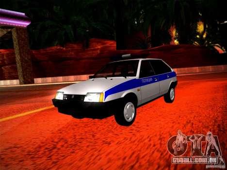 Polícia Vaz 2109 para GTA San Andreas esquerda vista