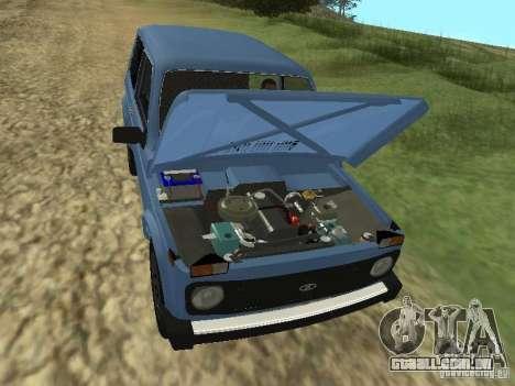 VAZ 21214 Niva para GTA San Andreas vista interior