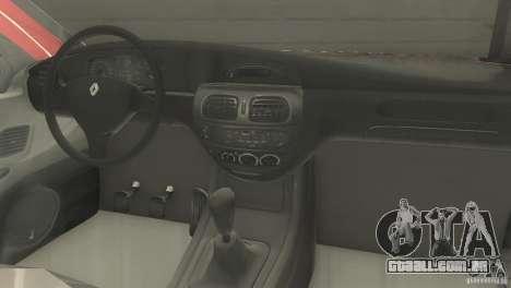 Renault Megane 2000 para GTA San Andreas traseira esquerda vista