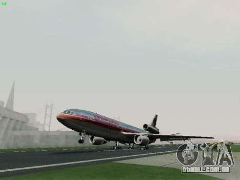 McDonell Douglas DC-10-30 Hawaiian para GTA San Andreas vista interior