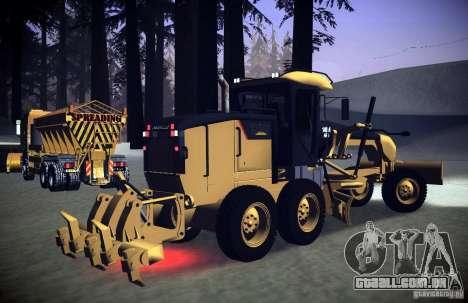 Caterpillar 140AWD Motorgrader para GTA San Andreas traseira esquerda vista
