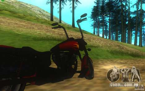 Motorcycle from Mercenaries 2 para GTA San Andreas vista traseira