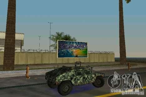 Hummer HMMWV M-998 1984 para GTA Vice City vista direita