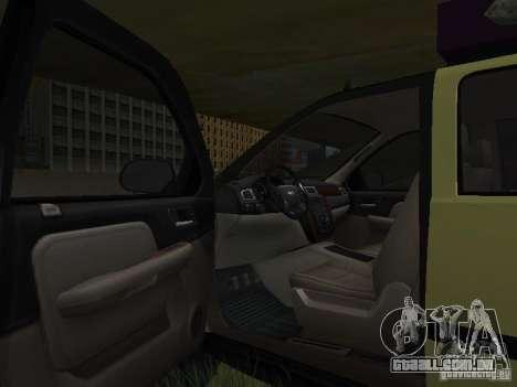 Chevrolet Tahoe Off Road para GTA San Andreas vista interior
