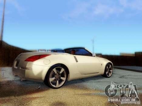 Nissan 350Z Cabrio para GTA San Andreas esquerda vista