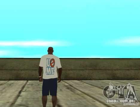 T-shirt WWE John Cena para GTA San Andreas segunda tela
