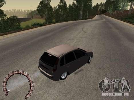 LADA 1119 para GTA San Andreas traseira esquerda vista