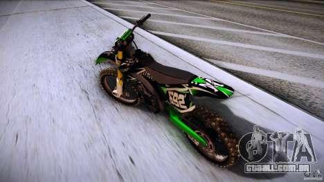 Kawasaki KLX 250S para GTA San Andreas traseira esquerda vista