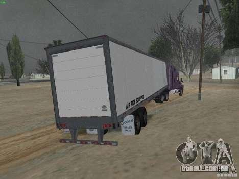 O reboque para a Freightliner Cascadia para GTA San Andreas