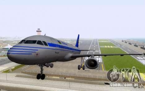 Airbus A-319 Azerbaijan Airlines para GTA San Andreas esquerda vista