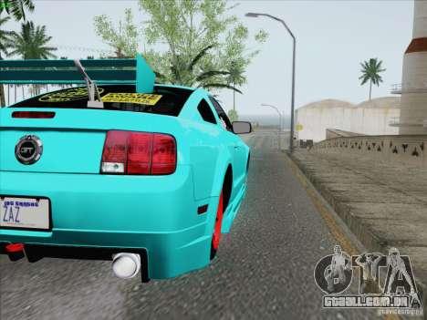 Ford Mustang GT Lowlife para vista lateral GTA San Andreas