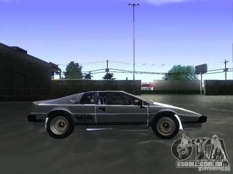 Lotus Esprit Turbo para GTA San Andreas traseira esquerda vista