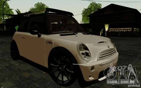 Mini Cooper S Tuned para GTA San Andreas vista superior