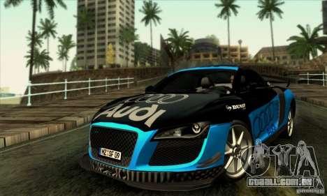 Audi R8 Spyder Tunable para GTA San Andreas vista superior