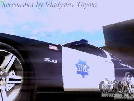 Ford Mustang GT 2011 Police Enforcement para GTA San Andreas vista superior