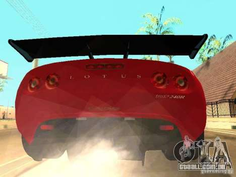 Lotus Exige 240R para vista lateral GTA San Andreas