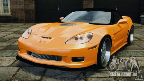 Chevrolet Corvette ZR1 para GTA 4 vista direita